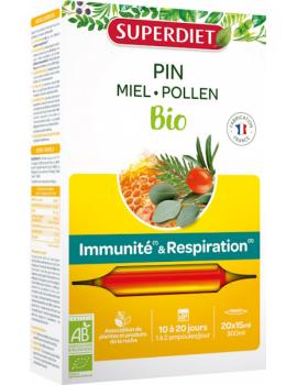Sève impériale défenses confort respiratoire Bio 20 ampoules Super Diet gelée royale propolis Abcbeauté