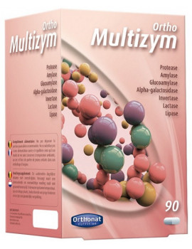 Multizym Enzymes digestives 90 gélules Orthonat Nutrition digestion ballonnements Abcbeauté