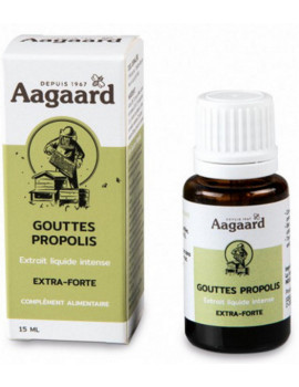 Gouttes Propolis intense 15ml Aagaard flacon défenses naturelles abcbeauté