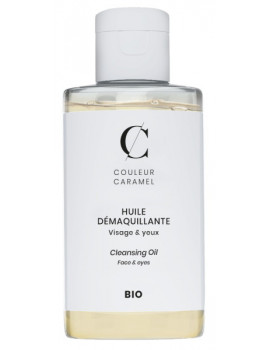 Huile Démaquillante Bio Visage et Yeux 125 ml Couleur Caramel traces de maquillage bio Abcbeauté