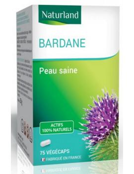 Bardane 75 gélules vegecaps Naturland dépuratif de la peau Abcbeauté