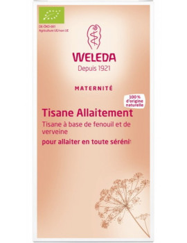 Tisane allaitement bio 20 sachets Weleda fenouil fénugrec lactation maternelle Abcbeauté