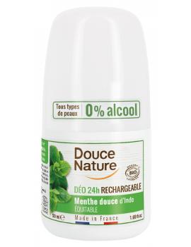 Déodorant à billes Aloe Vera 24H peaux normales 50ml Douce Nature deo bio certifié Abcbeauté