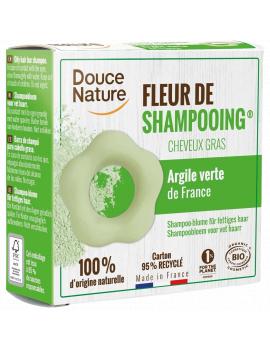 Fleur de Shampooing solide cheveux gras Ortie Karité Argile verte 85gr Douce Nature