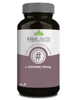 se titre 0 L-Arginine 500 Equi-Nutri - 60 gélules abcbeaute acide aminé Abcbeauté