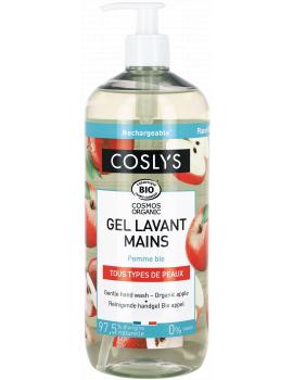 Gel lavant mains à la pomme bio 1L Coslys - savon liquide bio pour les mains