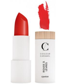 Rouge à lèvres Mat No 125 Rouge Feu 3.5g Couleur Caramel rouge mat poudré voyant Abcbeauté