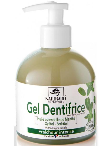 Gel Dentifrice Menthe xylitol Maxi fraicheur intense Format 300ml Naturado maxi format bucco dentaire Abcbeauté