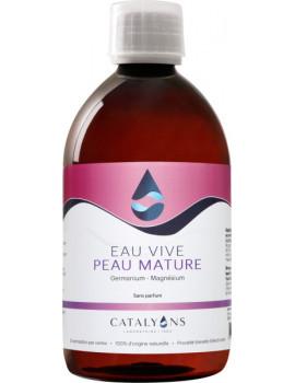 Eau Vive Peaux Matures 500 ml recharge Catalyons eau cosmétique anti-âge Abcbeauté