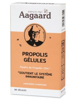 Propoline propolis zinc 30 Gélules Aagaard 1500mg pour 6 gélules Abcbeauté