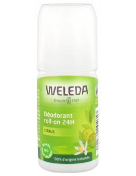 Déodorant roll on 24h Citrus 50 ml Weleda - produit d'hygiène biologique