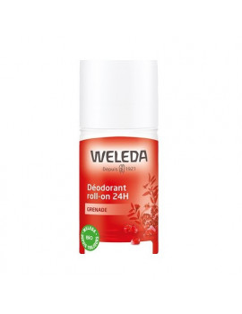 Déodorant roll-on bio 24h Grenade 50ml Weleda - produit d'hygiène biologique