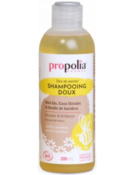 Shampoing Doux Bio être de mèche Miel Bambou 200 ml Propolia shampooing bio Abcbeauté