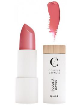 Rouge à lèvres satiné No 504 Rose poudré Couleur Caramel beau et délicat caresse Abcbeauté maquillage