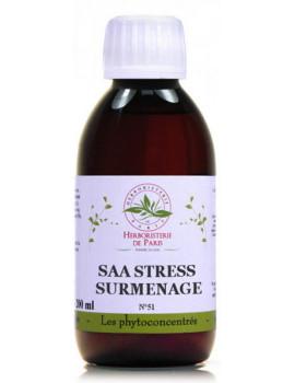 SAA Stress Surmenage PC Phytoconcentré N°51 200 ml Herboristerie de Paris - complément alimentaire abcbeauté
