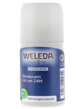 Déodorant roll on 24h Homme 50ml Weleda - produit d'hygiène biologique