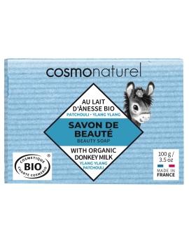 Savon au lait d'ânesse et HE Patchouli Ylang Ylang 100 gr Cosmo Naturel - soin pour le corps
