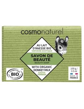 Savon au lait d'ânesse à l'huile essentielle de Verveine 100g Cosmo Naturel - produit de nettoyage pour le corps