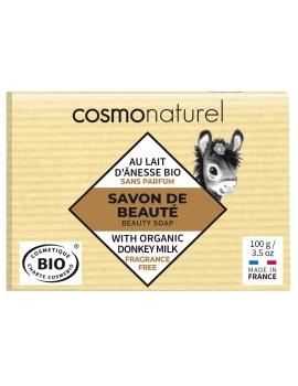 Savon au lait d'ânesse beurre de Karité sans parfum 100 gr Cosmo Naturel - savon bio hydratant