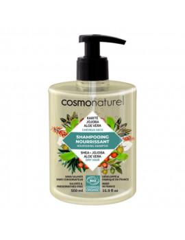 Shampooing bio Cheveux secs Karité Jojoba Aloe 500 ml Cosmo Naturel