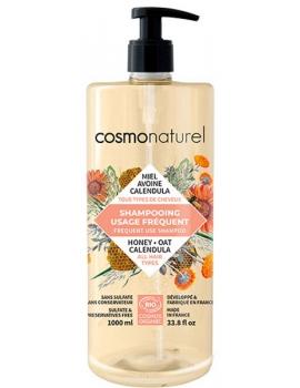 Shampooing usage fréquent Miel Calendula Avoine 1L Cosmo Naturel