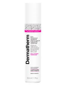 Soin hydratant apaisant anti rougeurs tolérance optimale 50 ml Dermatherm peaux sensibles 3 algues anti-inflammatoires