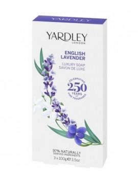 Coffret 3 Savons English Lavender Yardley Abcbeauté