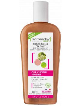Shampoing bio Extra douceur Cheveux Fragiles Et Délicats 250ml Dermaclay cheveux fins et plats Abcbeauté