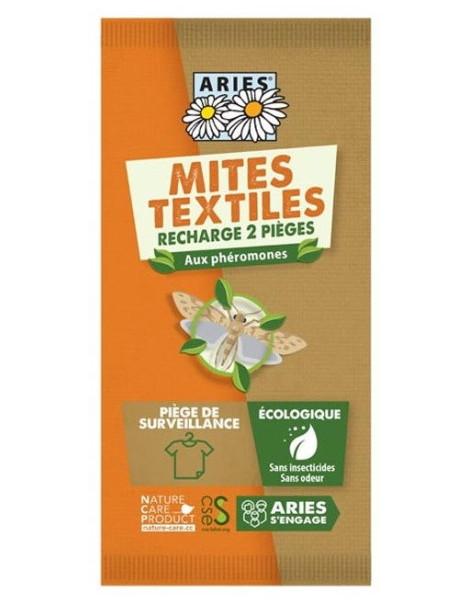 Piège à mites textile x 2 recharges Mitbox Aries contre les mites anti-mites phérormones Abcbeauté