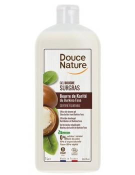 Crème douche surgras à l'huile de karité nourrissant 1 Litre Douce Nature - cosmétique biologique