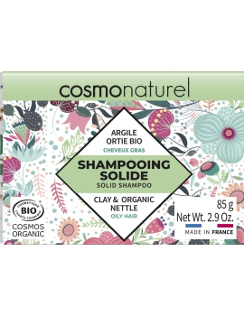 Shampooing solide Cheveux Gras 85gr Cosmo Naturel shampoing barre savon Abcbeauté capillaire