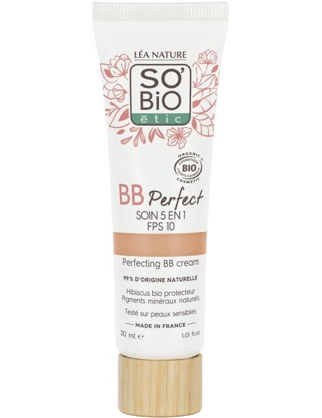 BB Crème Perfect 5 en 1 FPS10 Clair 30ml So'Bio Etic - maquillage bio pour le visage