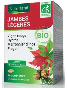 Vigne rouge Marronnier Cyprés Fragon Bio Jambes légères 90 Comprimés Naturland