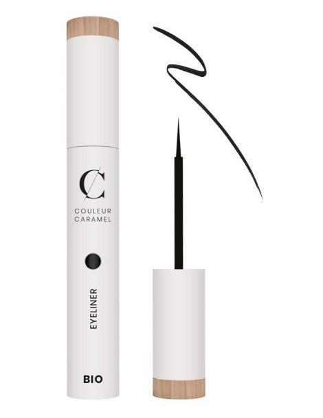 Eye Liner 01 noir bio applicateur pinceau 5ml Couleur Caramel - maquillage bio pour les yeux