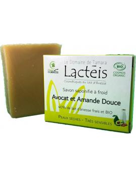 Savon Avocat et Amande douce à 40pc de lait d'ânesse Le Domaine de Tamara
