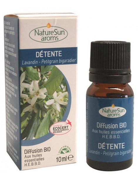 Complexe Diffusion Détente Sommeil bio NaturSun'arôms - 10 ml utilisation en diffusion externe Abcbeauté