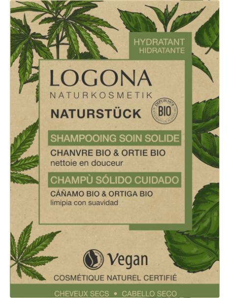 Shampoing soin solide chanvre Ortie Bio 60gr Logona écologique économique Abcbeauté capillaire