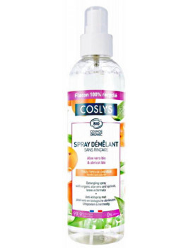 Spray démêlant sans rinçage 200 ml Coslys abricot aloe vera bio Abcbeauté soin capillaire