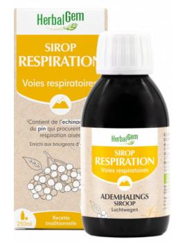 Sirop pour la Respiration bio 250 ml Herbalgem immunité respiratoire Abcbeauté