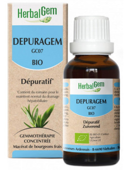 Depuragem Bio 50ml dépuratif Herbalgem est un complément alimentaire destiné à aider à nettoyer l'organisme Abcbeauté