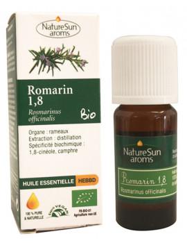 Huile essentielle de Romarin bio 1, 8, Cinéole 10ml NatureSun'arôms