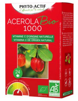 Acerola 1000 bio 24 comprimes Phyto-Actif