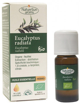 Huile essentielle Eucalytus radiata bio 10ml NatureSun' Aroms