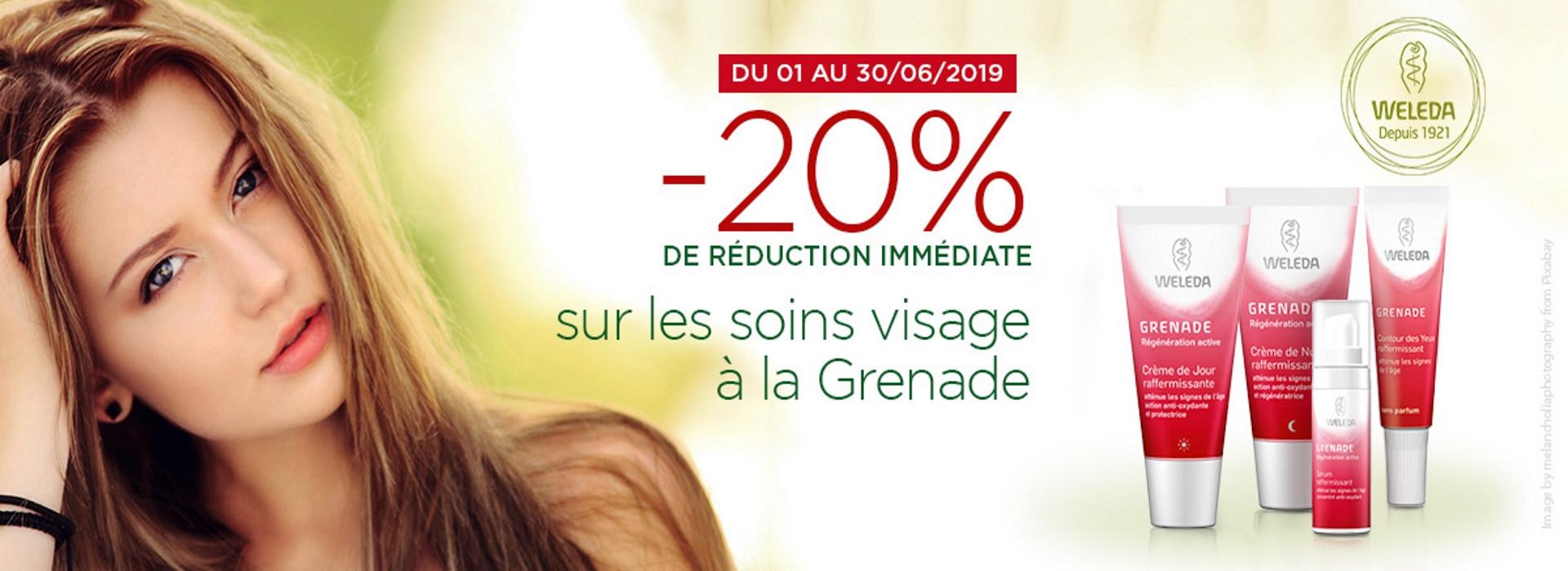 soins visage à la grenade à -20%