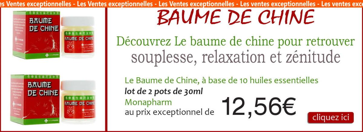 2 x baume de chine monapharm