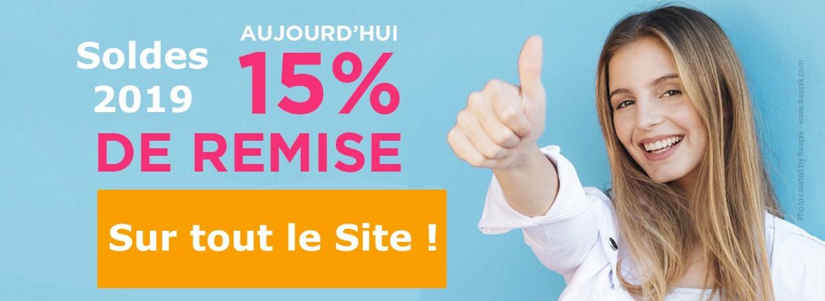 -15% sur tout le site pour les soldes d'été