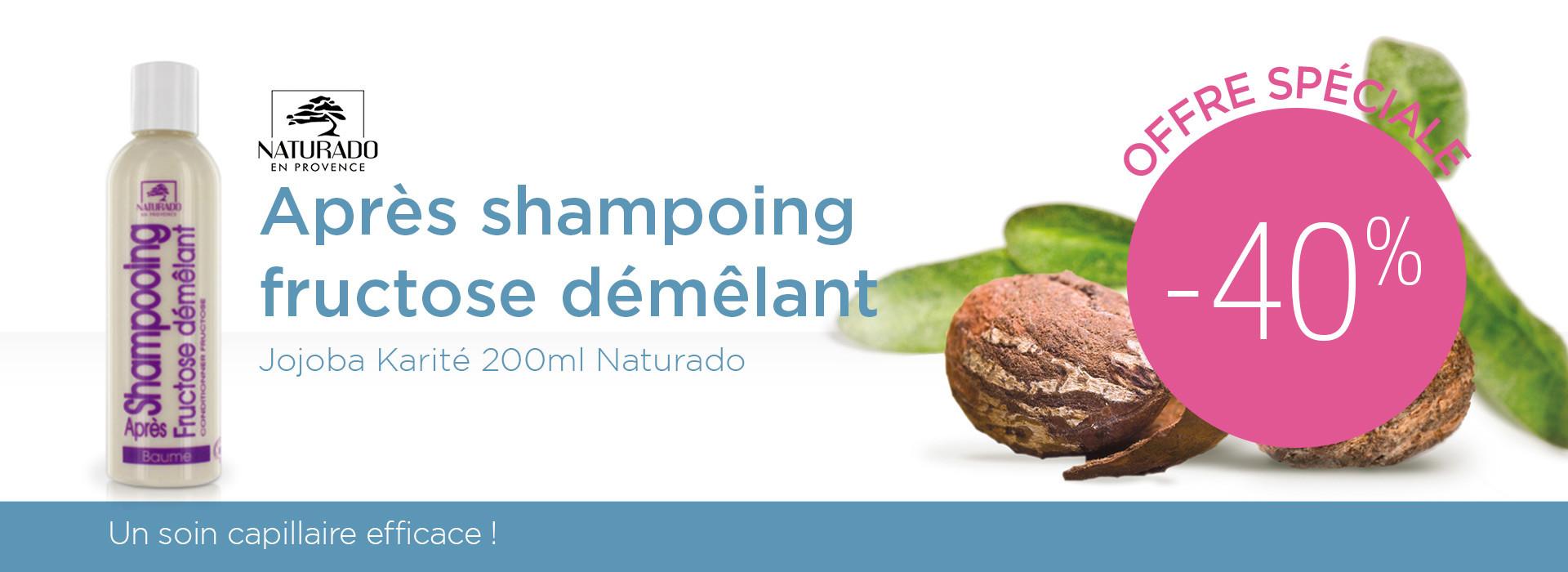 Après shampoing fructose démêlant Jojoba Karité Naturado à -40%