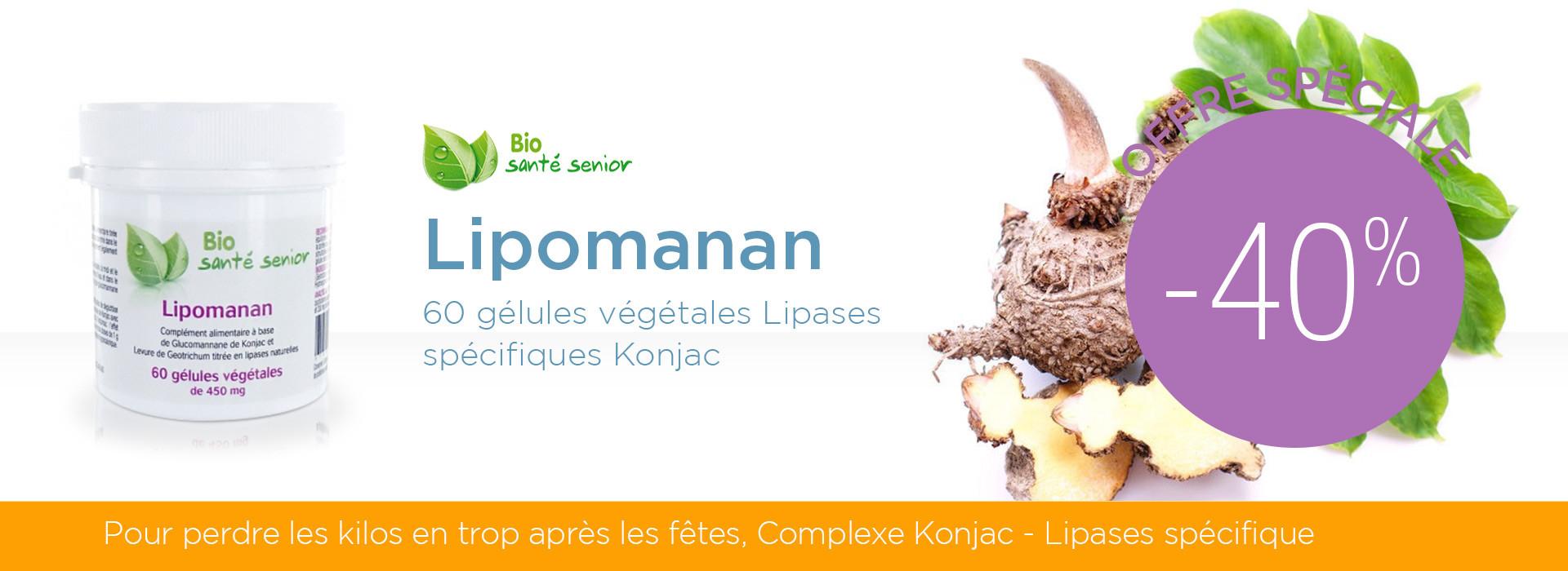 Lipomanan - 60 gélules végétales Lipases spécifiques Konjac à -40%
