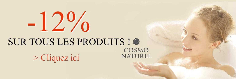 promo de 12% sur le catalogue cosmo naturel